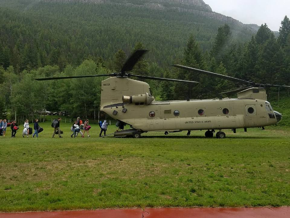 Montana Army National Guard evacuates 137 students and staff