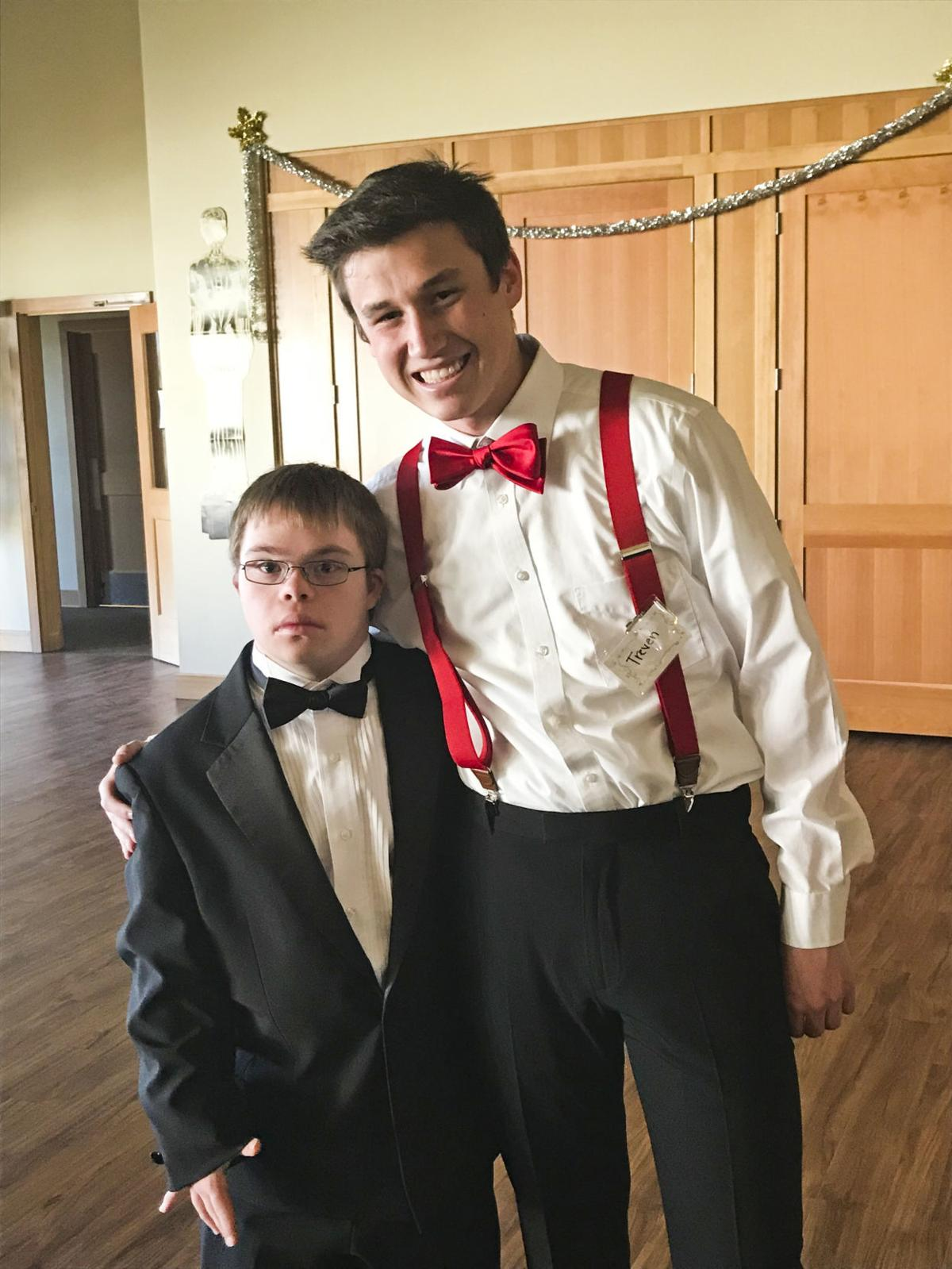 Prom organizers Tanner Davis, left, and Treven Maharg during last year's Night with the Stars.