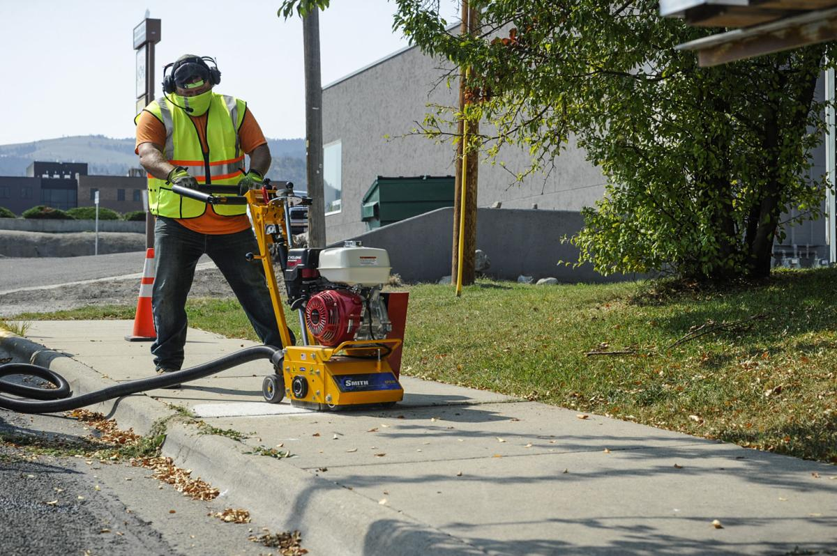 A City of Helena Street Division worker u