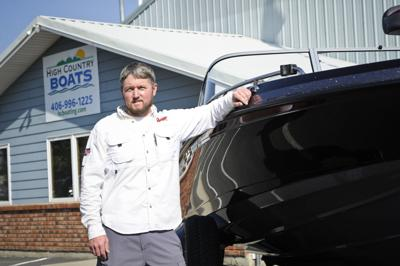 Jake Monroe, owner of the new High Country Boats shop,