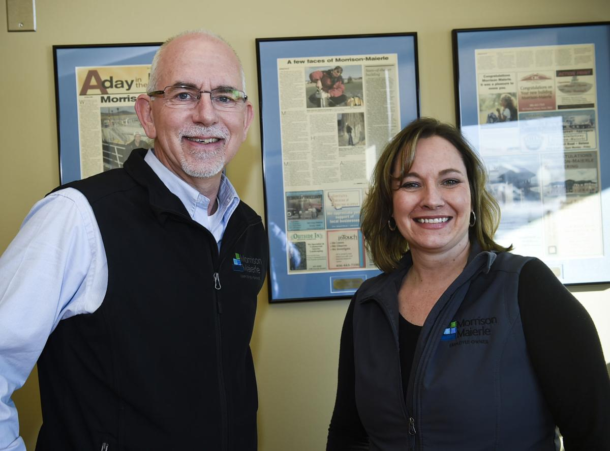 Morrison Maierle President Scott Murphy, left, and Jona Parriman, financial manager