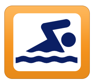 Swimming pool icon swim