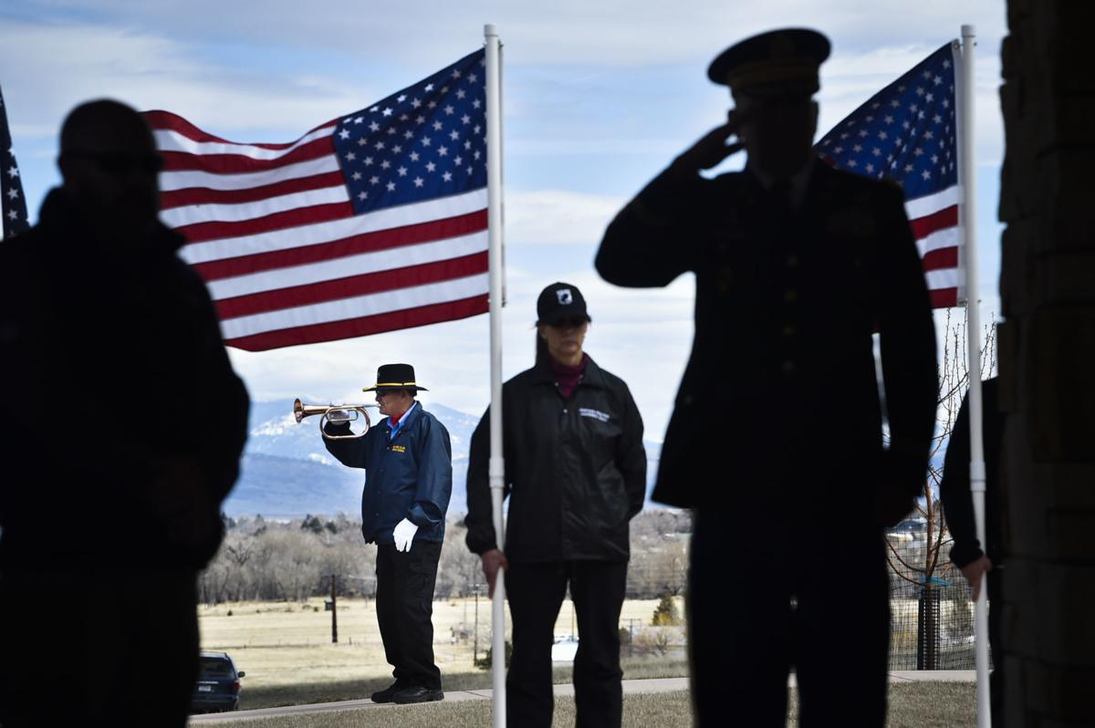 Bill Dooley, of the Lewis and Clark Veterans Council honor guard,