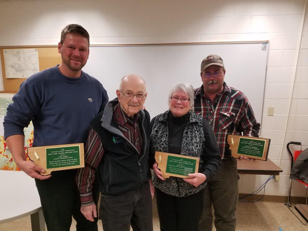 Recipients of the Tri-County Firesafe Working Group Sonny Stiger Award