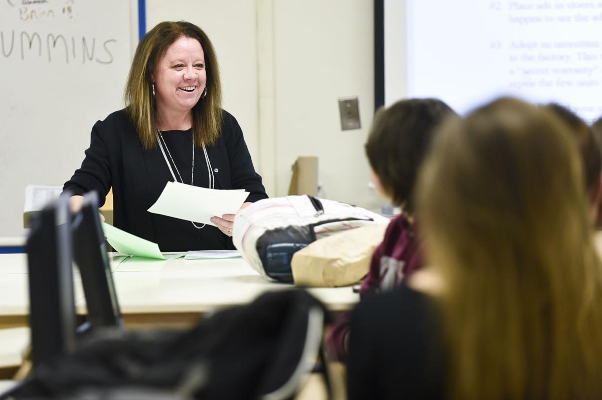 Capital High School marketing teacher Karey Conn
