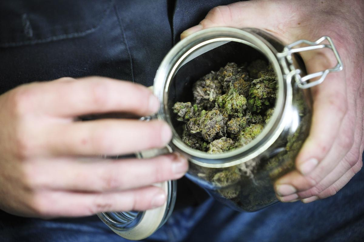 A jar of medical marijuana is pictured in this IR file photo.