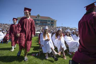 A scene from the Helena High graduation ceremony in June 2018.