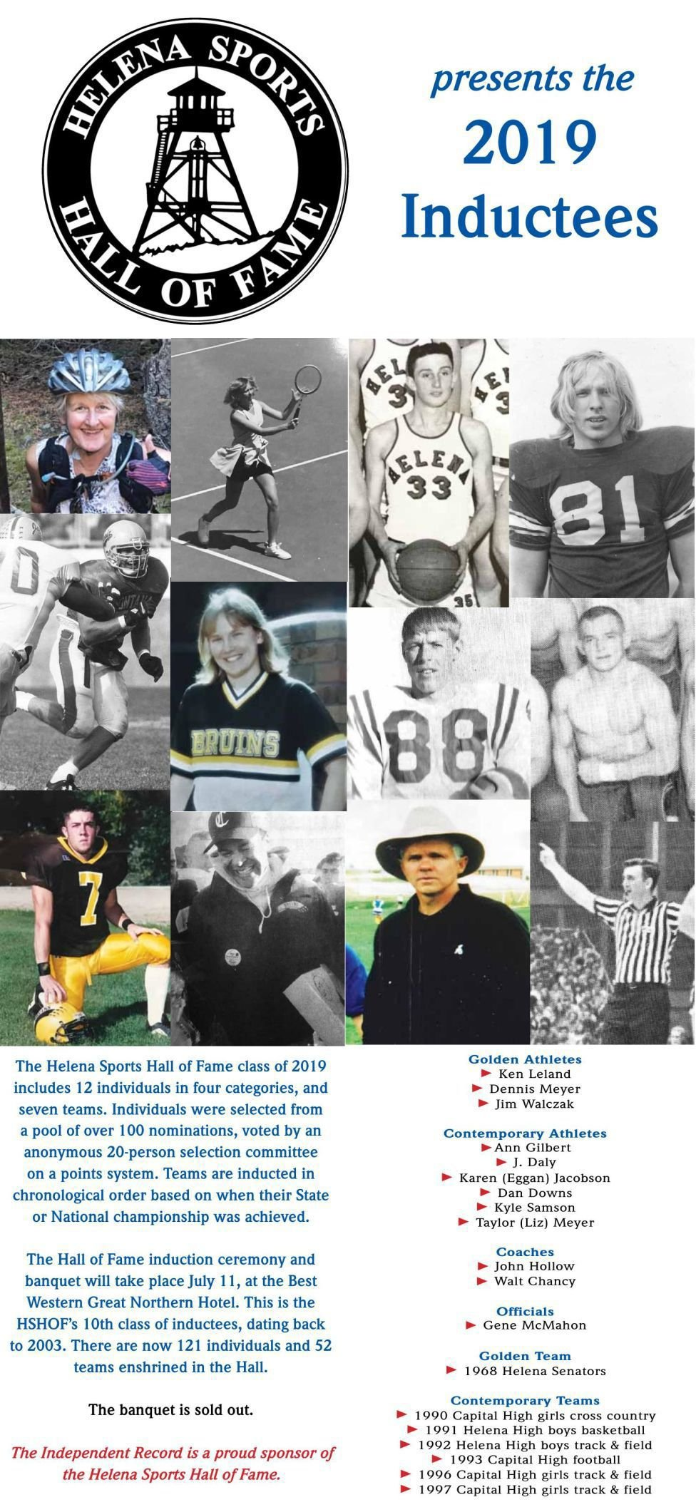 Helena Sports Hall of Fame 2019 inductees