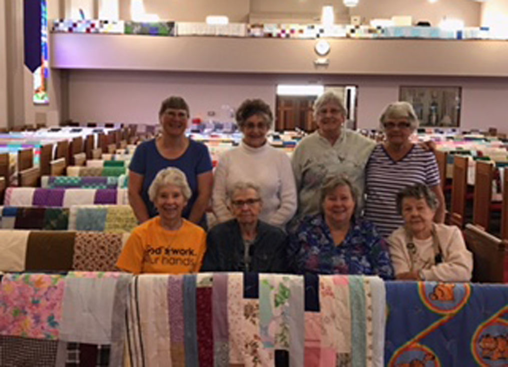 CHURCH SENDS QUILTS AROUND THE WORLD