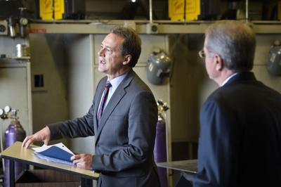 Gov. Steve Bullock, left, and Commissioner of Higher Education Clayton Christian