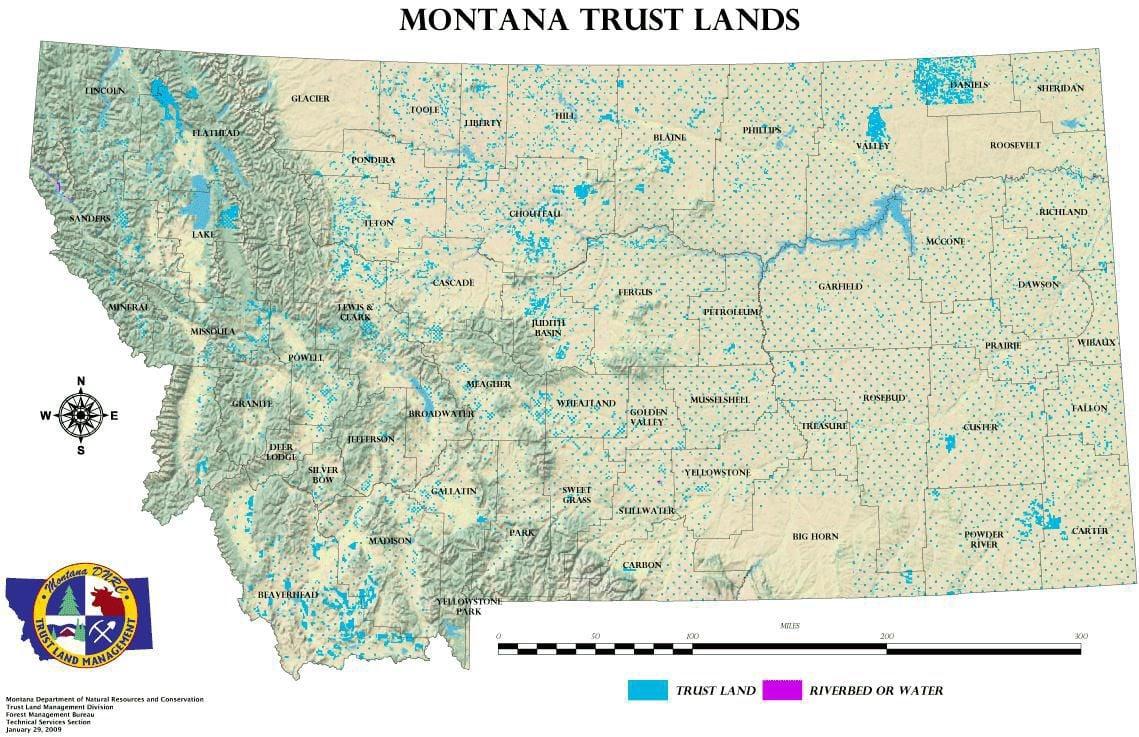 Trust Lands Map