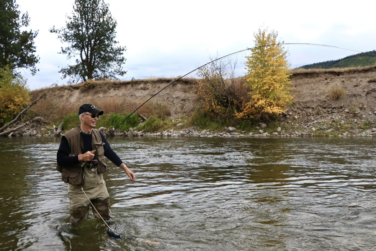 John N. Maclean fishes the Blackfoot River.