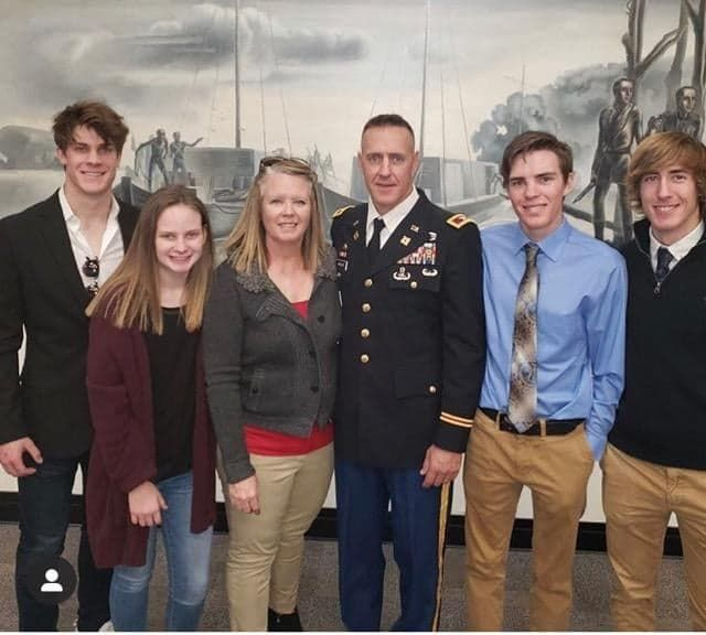 Col. Greg Hirshey poses with his family