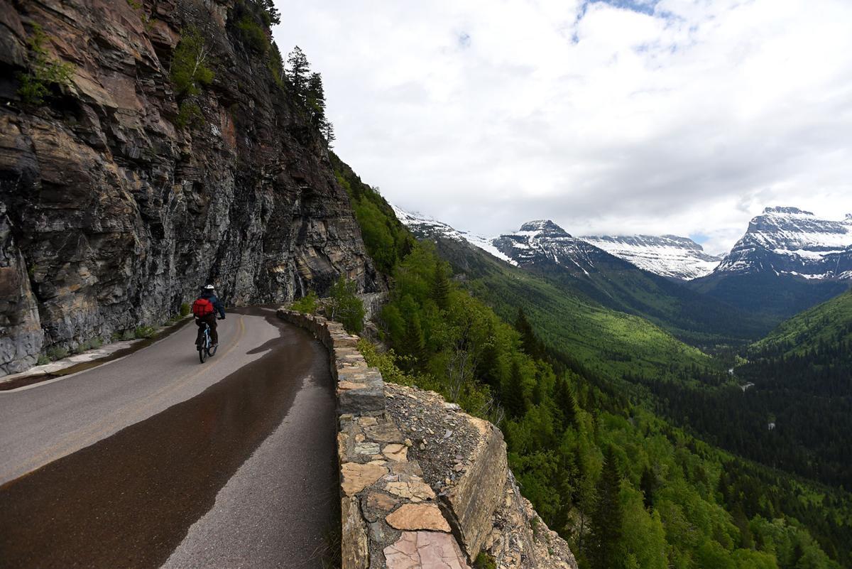 Biking Glacier