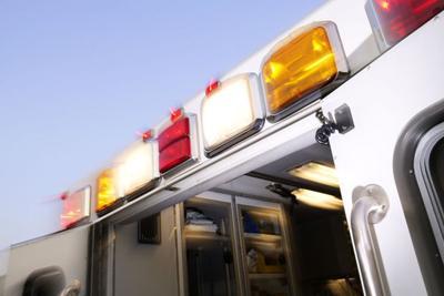Ambulance lights stock image