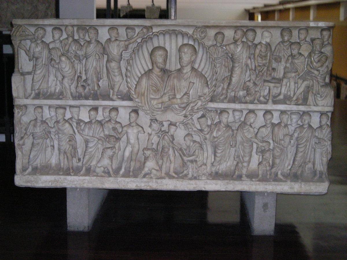 One of the many sarcophagi Ferst researched