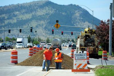 Installation of traffic light at Carter, Highway 12 underway