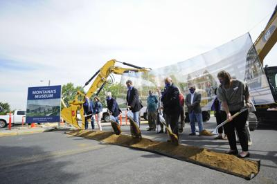 Officials break ground on the new Montana Heritage Center during a ceremony on Wednesday.