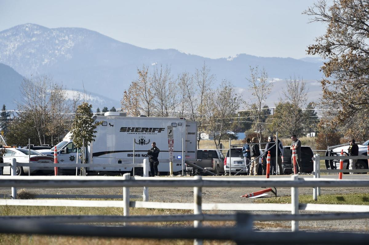 The Lewis and Clark County bomb squad on scene