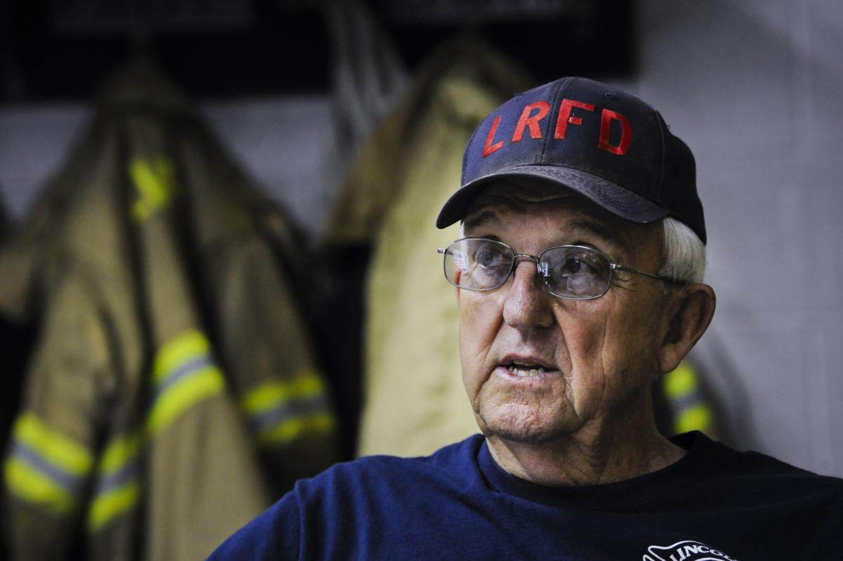 Ken Crymble, a 74-year-old firefighter for Lincoln Volunteer Fire,