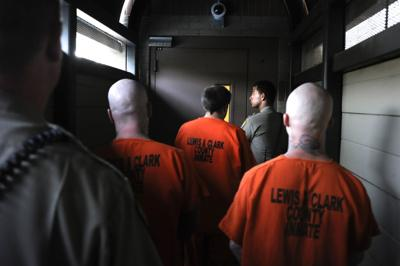 Inmates are transferred from the courthouse