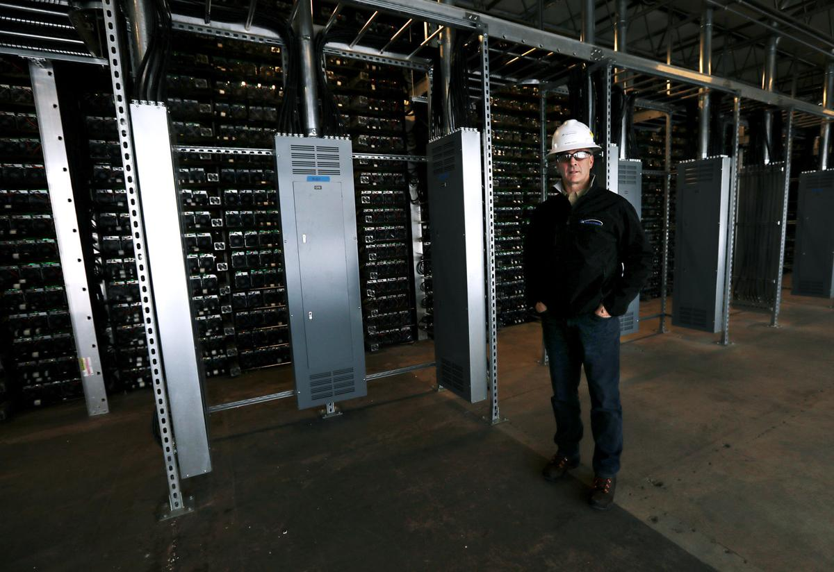 Rick Tabish at CryptoWatt data center in Butte