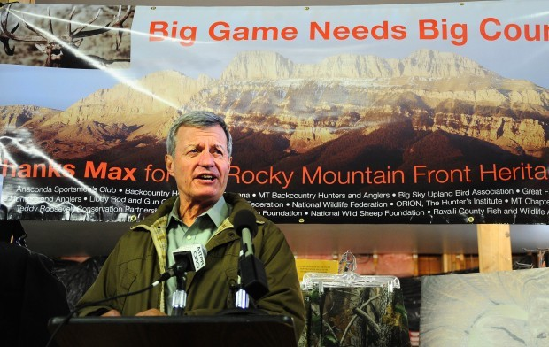 Baucus on front
