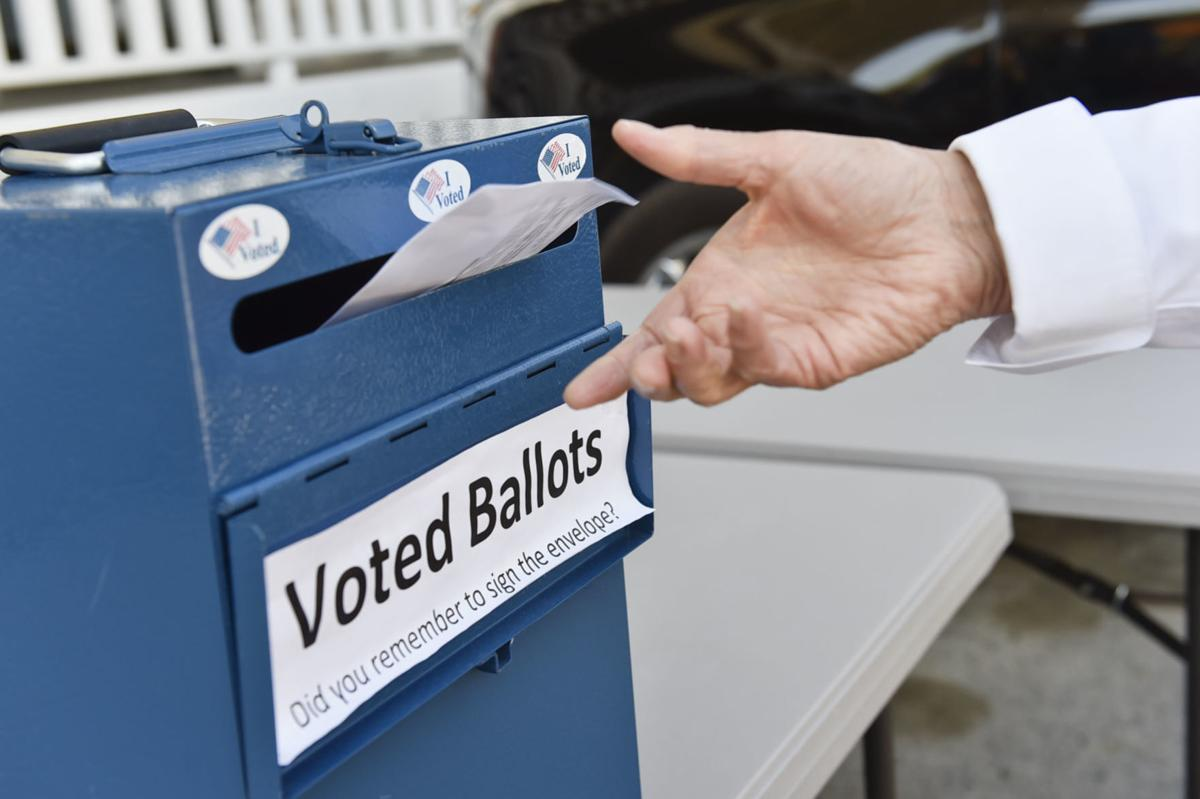 Voted Ballots stock image