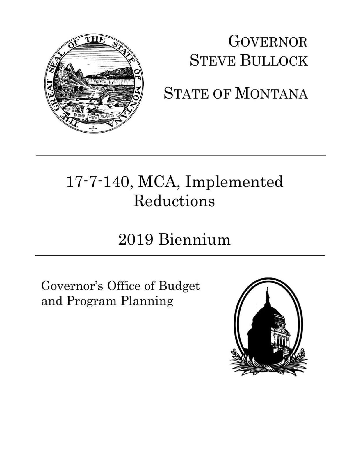 Cuts from Gov. Steve Bullock