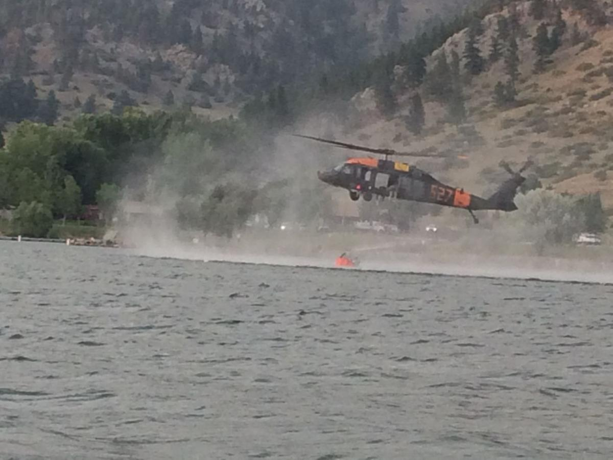 Holter Lake fire
