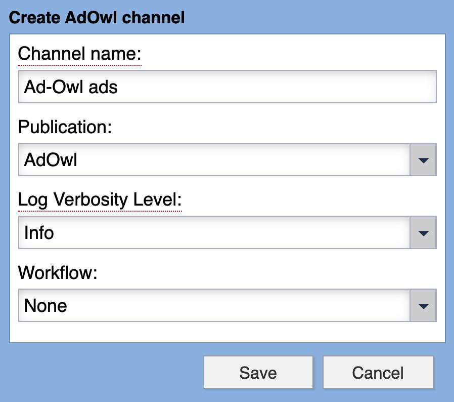 AdOwl Syndication Channel