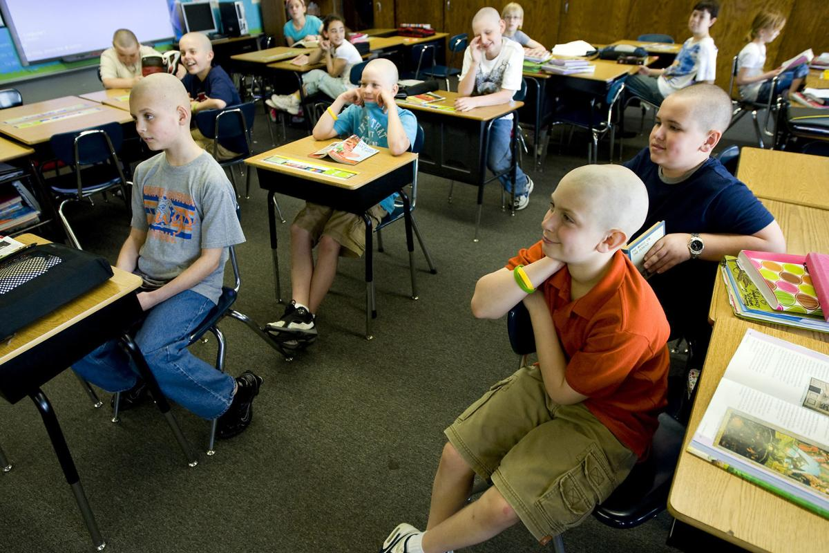When Holy Family students shaved their heads in solidarity.