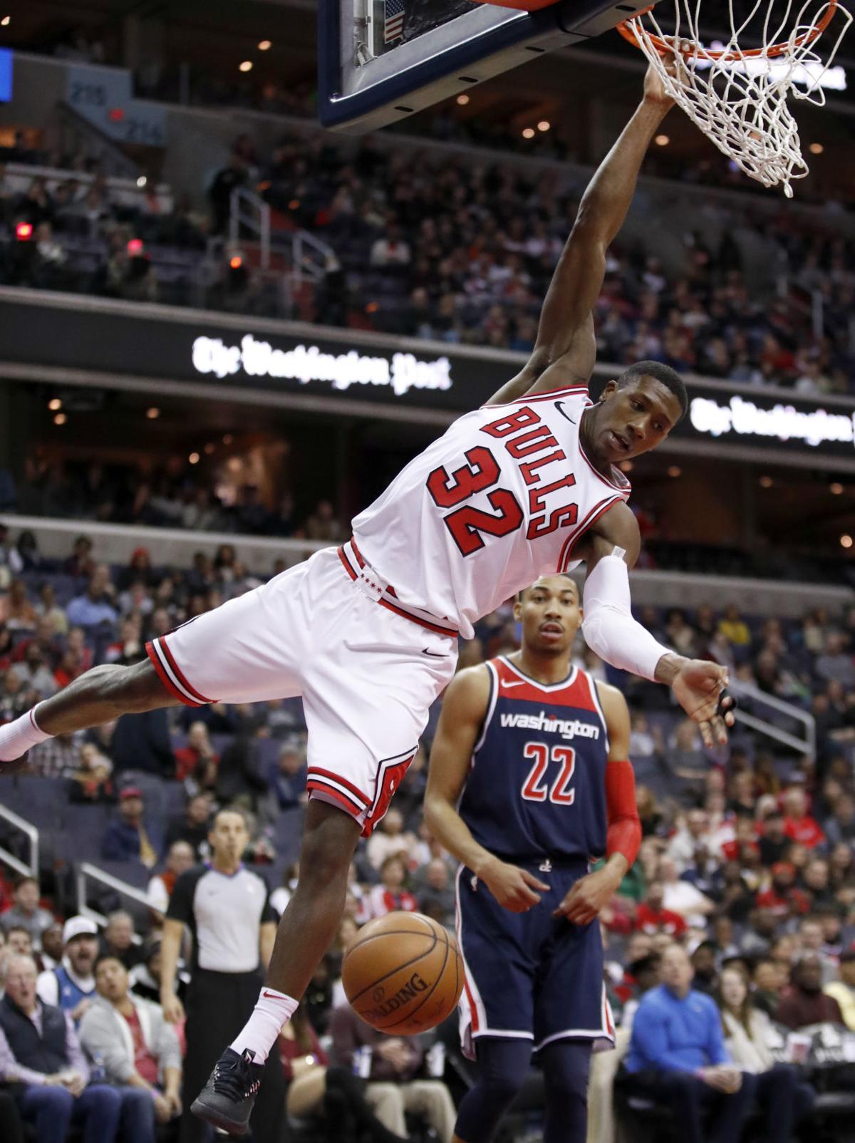APTOPIX Bulls Wizards Basketball