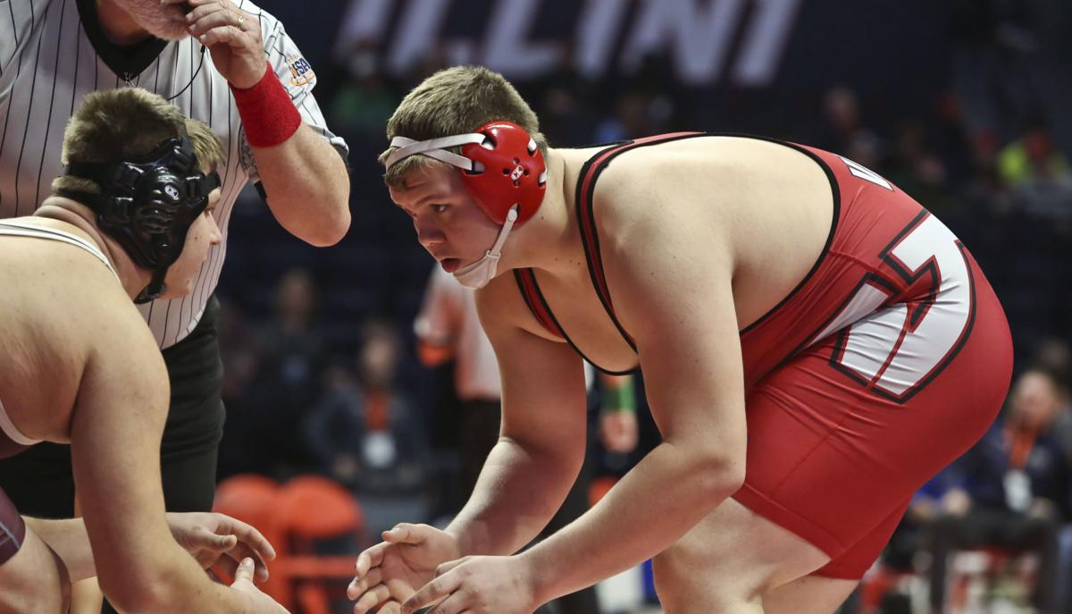 PHOTOS: First Rounds of 1A Illinois State Wrestling