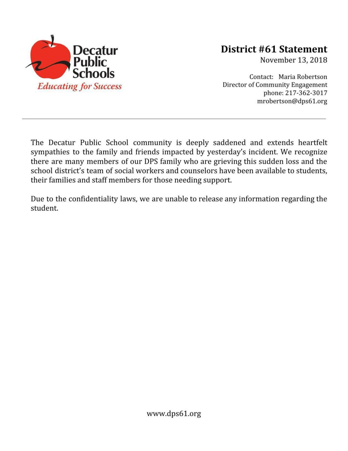 DPS Statement Nov. 13