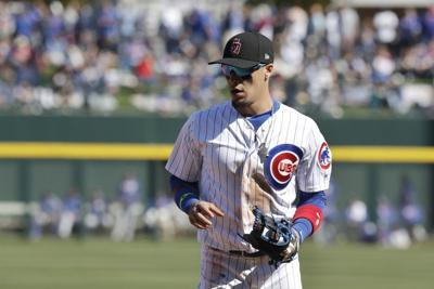 17ed33752 Cubs' Javier Baez leaves game with left hamstring tightness ...