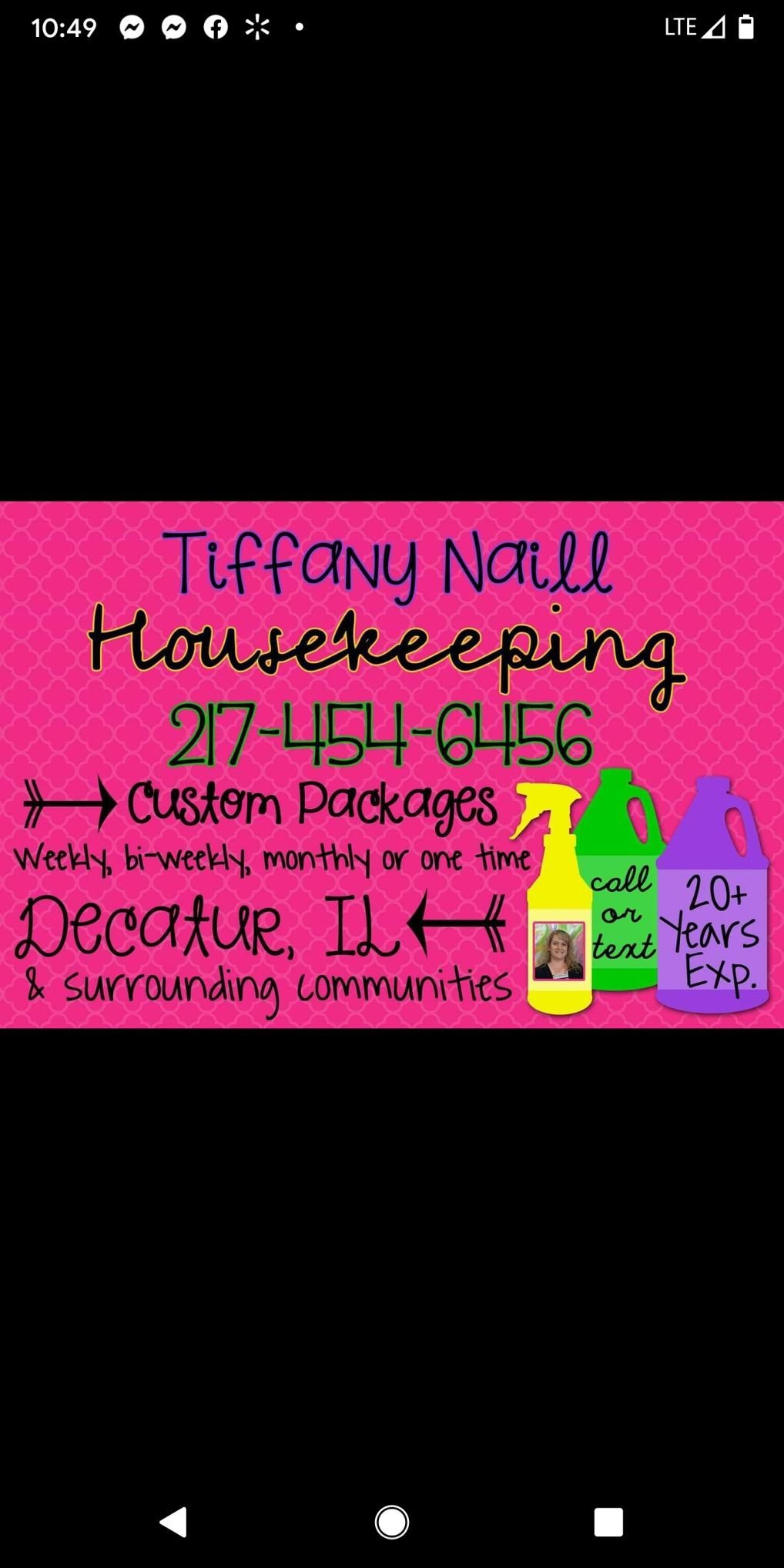 Tiffany Naill cleaning services