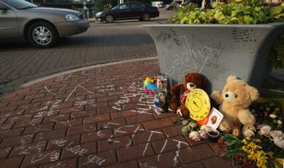 Cody Drew street side memorial 8.13.18