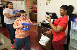 VIDEO: National Junior Honor Society hosts Easter party for life skills classes at TJ Middle School
