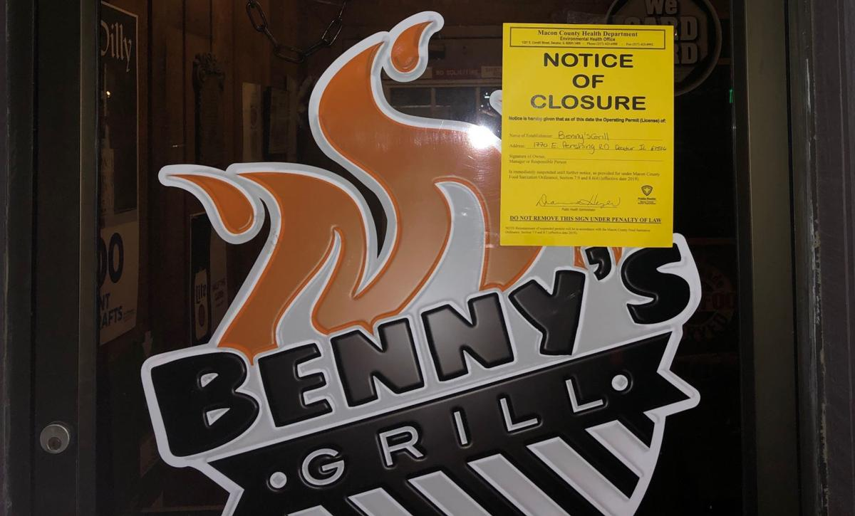 DOCUMENTS: Health inspector closed Benny's Grill after