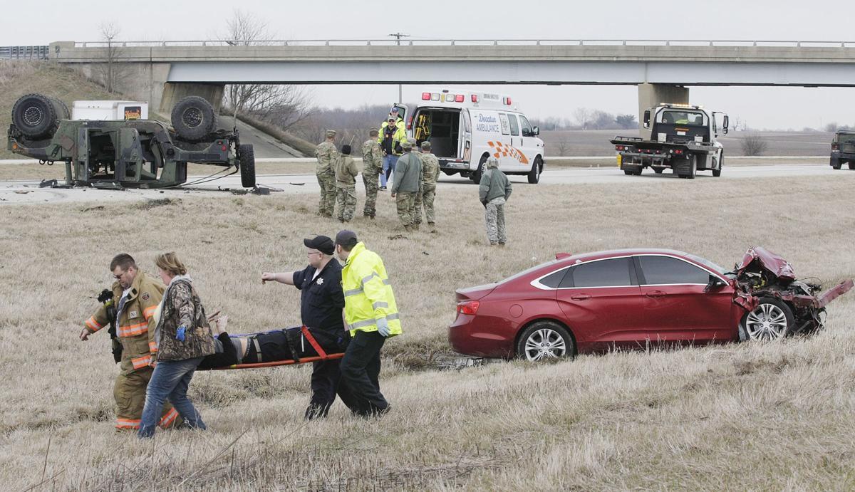 3 taken by ambulance from 2-vehicle I-72 crash scene | Public Safety