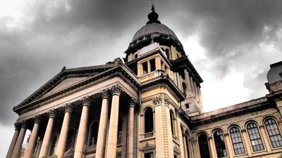 Illinois capitol, Statehouse, stock