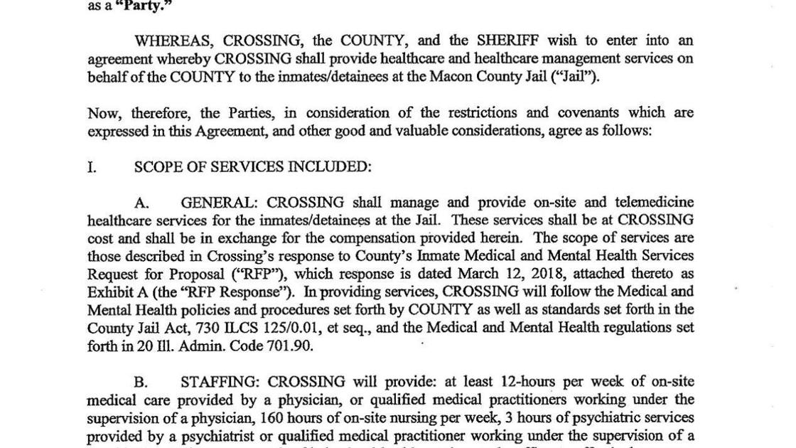 Agreement Between Macon County Sheriffs Office And Crossing