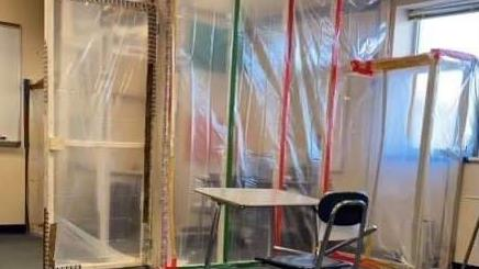 Community in uproar over teacher's COVID 'fort'