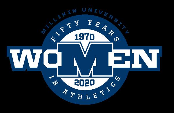 Millikin women's athletic celebration logo