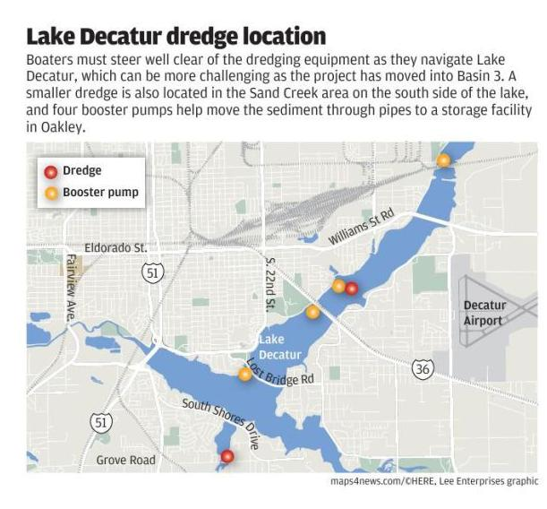As $91 million dredging continues, Lake Decatur users