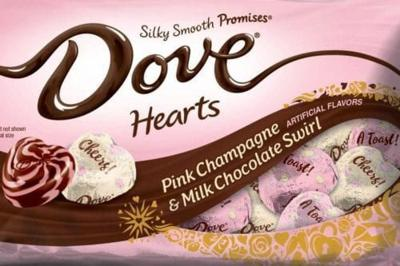 You Can Now Buy Dove's Valentine's Day Pink Champagne And Milk Chocolate Swirl Hearts