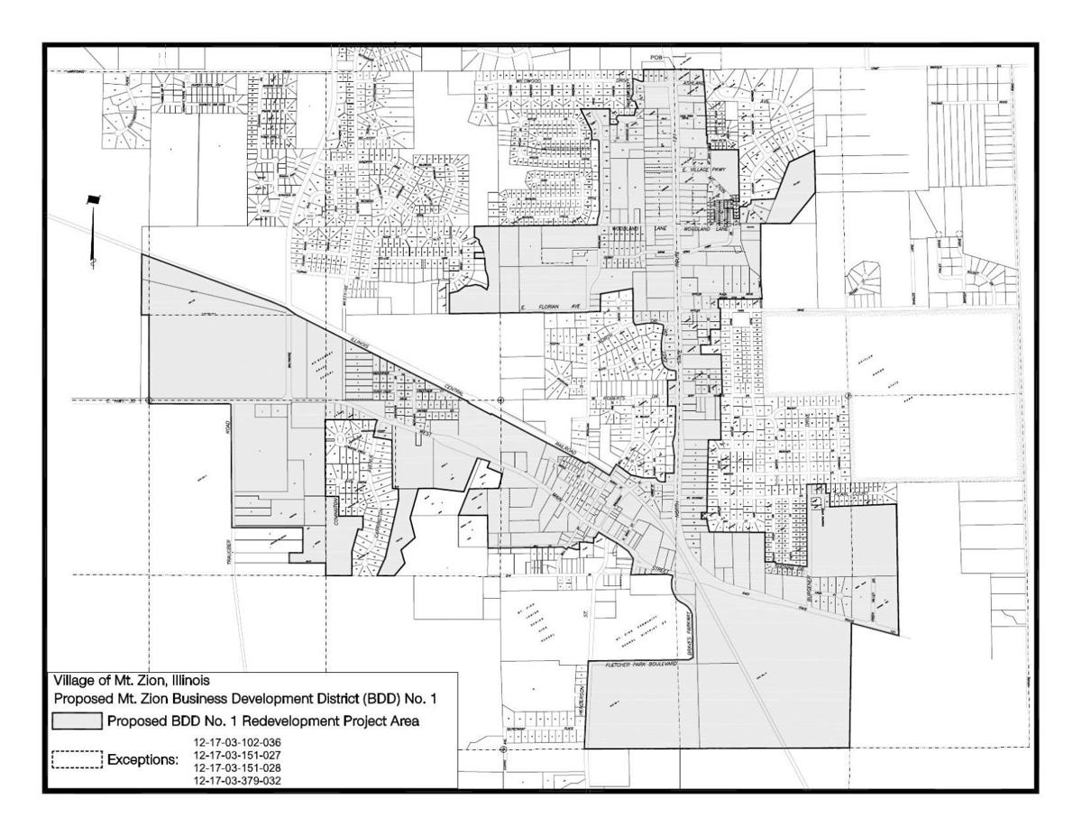 Mount Zion business development district map