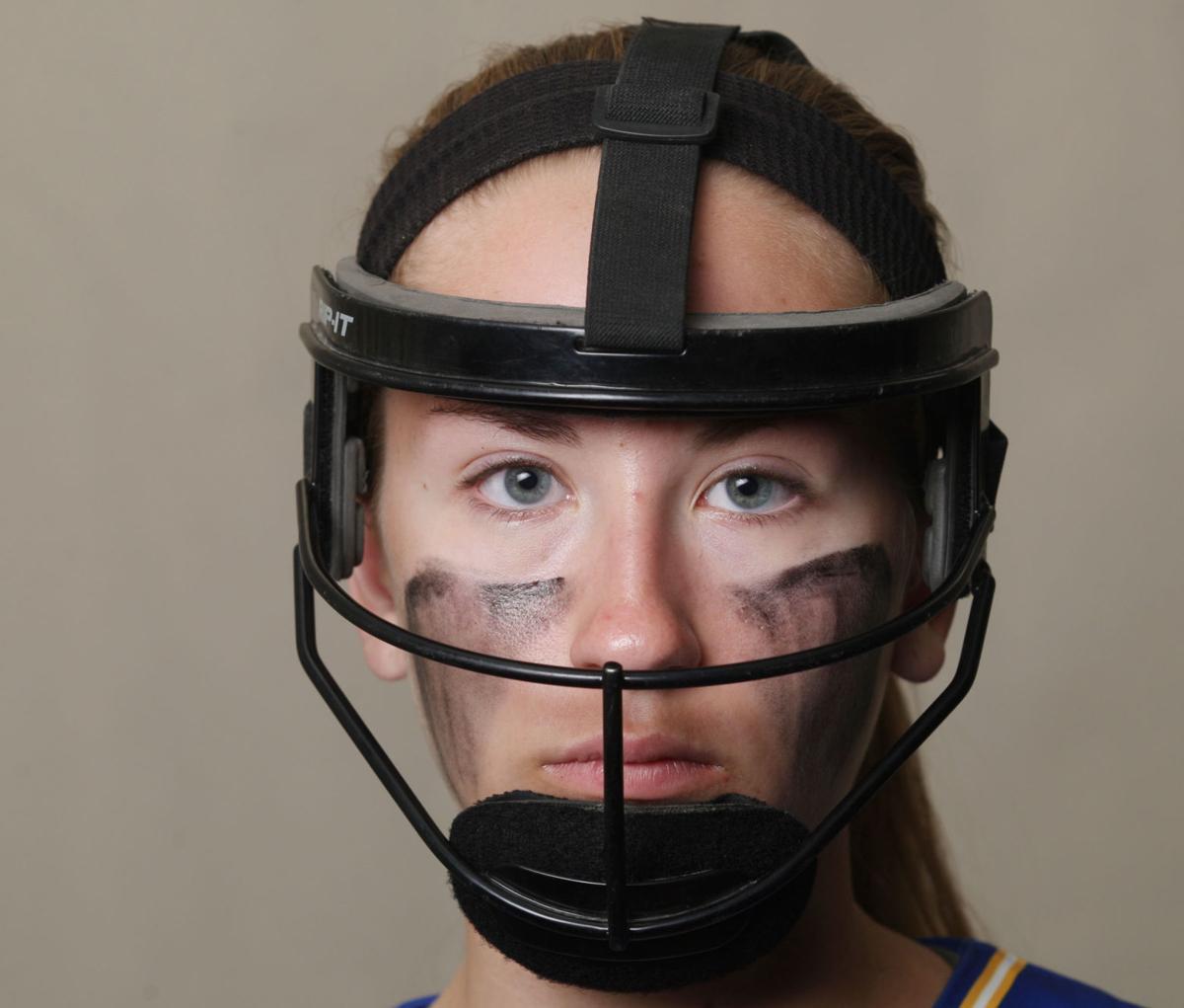 Softball mask for cutout