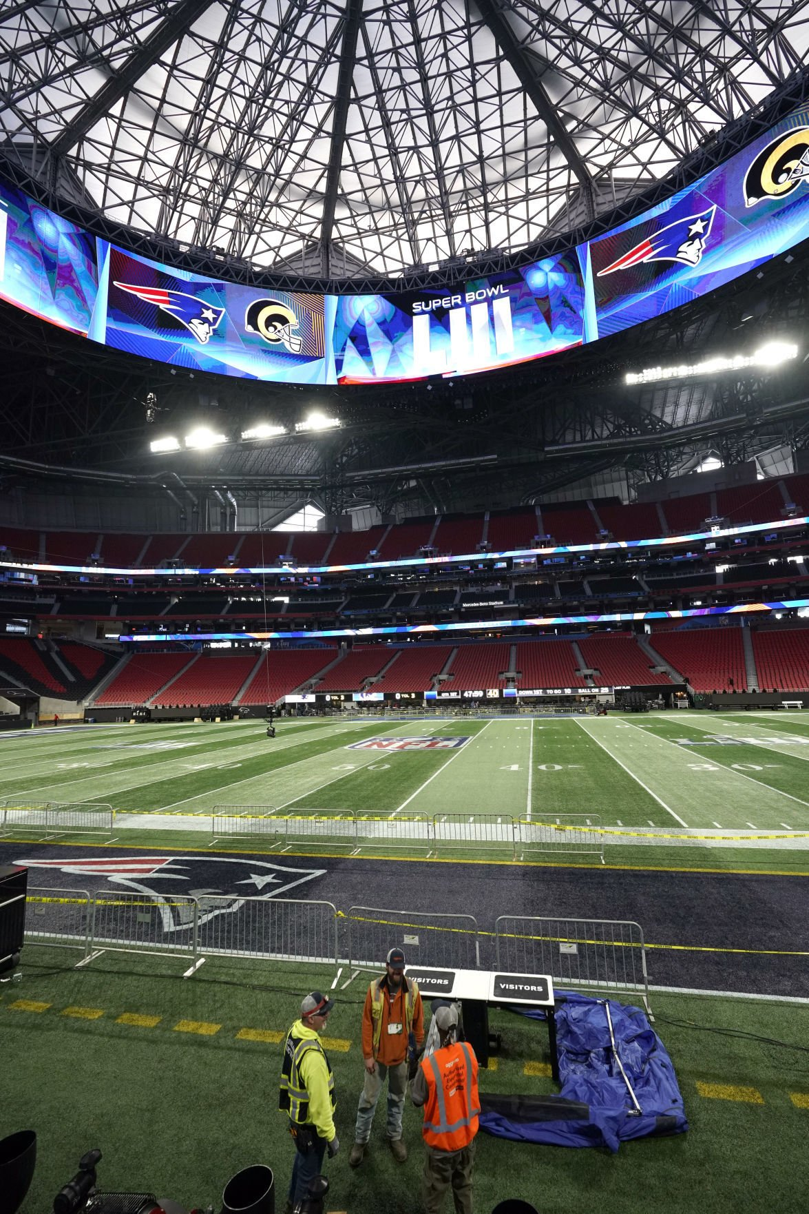 How Mercedes-Benz Stadium Was Transformed For The Super